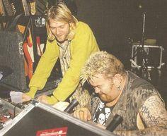 Kurt Cobain with Big John Duncan of 'The Exploited', Milwaukee, October 26, 1993