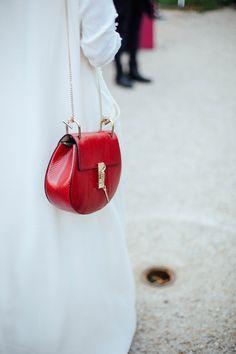 red saddle #bag :: #Chloe