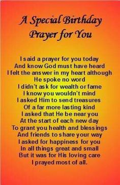 Birthday prayer                                                                                                                                                     More