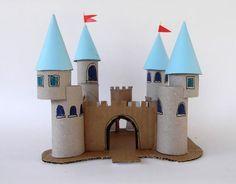 Reciclaje Rollos de Papel Castillos para Niños