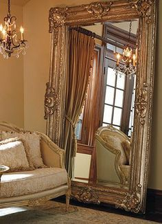 Awesome Large Wall Mirror Decor Ideas Decorating With Large Wall Mirrors Awesome Large Wall Mirror Decor Ideas. Decoration Baroque, Muebles Living, Oval Mirror, Huge Mirror, Wall Decor, Room Decor, Interior Decorating, Interior Design, Cool Ideas