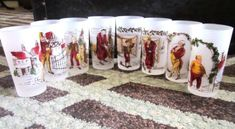 """(see pic's & """"Dickens Series"""". The logo is very difficult to photograph due to the frosted finish. Pre-owned, on display only in near mint condition. See pictures! Kitchen Things, Vintage Glassware, See Picture, Milk Glass, Vintage Kitchen, 9 And 10, Vintage Christmas, Mid-century Modern, 1950s"""