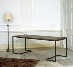 Rose Uniacke Modernist steel table. www.roseuniacke.com