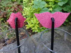 Hey, I found this really awesome Etsy listing at https://www.etsy.com/listing/202216271/mixed-shaped-lip-straws-glittery-pinks