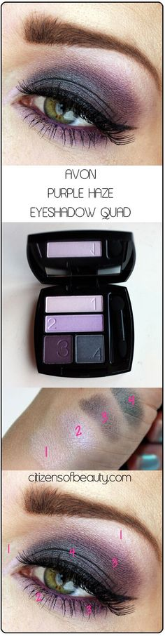 AVON Purple Haze eyeshadow quad Avon Eyeshadow Quads: Shockingly Good
