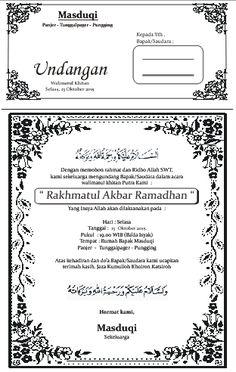 Image result for contoh undangan tahlil