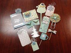 Winter wonderland loaded envelope embellishments