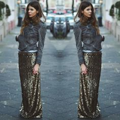 Shiny Maxi Skirt