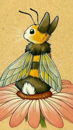 This is just so weird. I can't tell if I really like it or not, it's just so original that I'm into it. Bunny Bee!