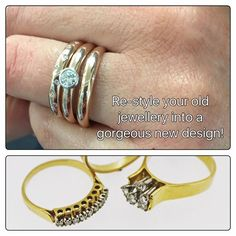 Would you love to re-design your old rings and jewellery 😳 ? Our design team are on file 💥🌪💎🌋 Old Jewelry, Jewellery, Sell Your Gold, Old Rings, Fairy Pictures, Bangles, Bracelets, Vintage Rings, Jewelry Stores
