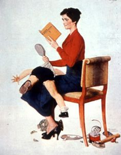 Norman Rockwell (1894 – 1978, American) Parenting is not for cowards.