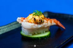 Aburi Ebi Nigiri,  for more sushi pics follow me here: @makesushiorg #sushi #art Also check out these sushirecipes here: www.makesushi.org//sushi/#all/1/list/