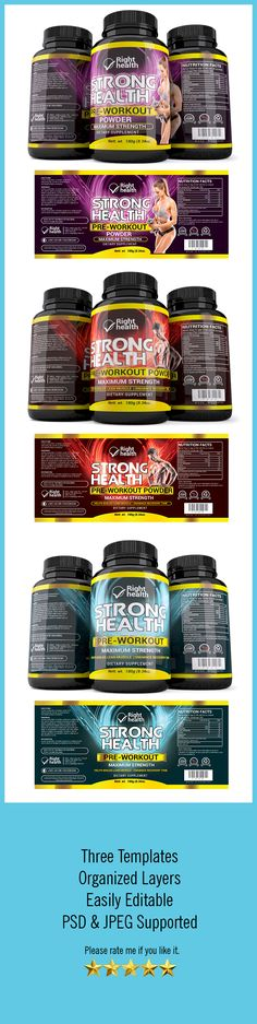 Hi, This is High quality Supplement Label Template Features Four - abel templates psd