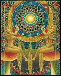 "Mythological Goddess Art by Emily Balivet - ""Wheel of Fortune"" by Emily Balivet. Oil on canvas, 2016. | Facebook Goddess Art, Wheel Of Fortune, Oracle Cards, Psychedelic Art, New Age, Trippy, Mythology, Tarot, Oil On Canvas"