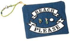 Venessa Arizaga 'Beach Please' Embellished Pouch