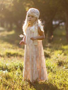 Spring portraits  Creamy Pink Shortcake Polka Dot Dress by BabyCake Vintage - One Good Thread