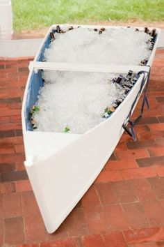 FOR MY FRIENDS / FAMILY WHO DESIGN THE MOST BEAUTIFUL BEACH WEDDINGS IN YHE WORLD:   Awesome idea for holding beers at a nautical wedding ~ http://VIPsAccess.com/luxury-hotels-caribbean.html