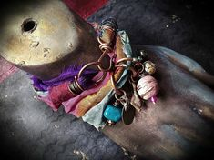 Bohemian sari silk wrap bracelet with kuchi and bead by quisnam, $35.00