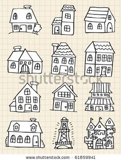 stock vector : cute house draw