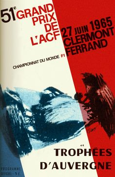 "Grand Prix de France (1965) ""Artists found ways to express the speed and excitement of racing cars. Technically and aesthetically superb. KB"