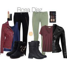 Rosa Diaz B99 by clara-audrey on Polyvore featuring polyvore fashion style Madewell Uniqlo VIPARO True Religion Paige Denim Rupert Sanderson Ginette NY NARS Cosmetics Lancôme