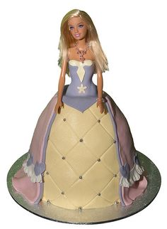 Dolly Varden Barbie Doll Cake by Say it with Cake, via Flickr