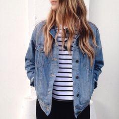Stripes + Jean Jacket