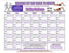 June 2014 walking challenge calendar