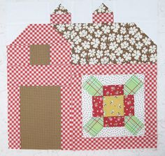 Bee In My Bonnet: The Quilty Barn Along...Week 2...and a Farm Fresh Flower Tutorial!!!