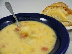 Perfect Left-Over Ham Recipe - Cheesy Ham and Potato Soup!!