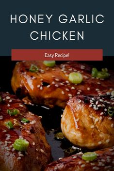You can positively utilize boneless on the off chance that you like yet I locate the bone in gives better flavor and the meat is increasingly delicate. #Honey #Garlic #Chicken Easy Honey Garlic Chicken, Honey Garlic Sauce, Garlic Chicken Recipes, Chicken Breast Recipes Healthy, Healthy Recipes, Easy Recipes, Duck Sauce, Low Sodium Soy Sauce, Hoisin Sauce