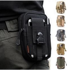 CAMTOA Multi-Purpose Poly Tool Holder EDC Pouch Camo Bag Military Nylon Utility Tactical Waist Pack Camping Hiking Pouch Black - Exellent quality and price. Nylons, Waist Pouch, Belt Pouch, Tool Pouch, Belt Bags, Clutch Bags, Men's Bags, Pouch Bag, Samsung