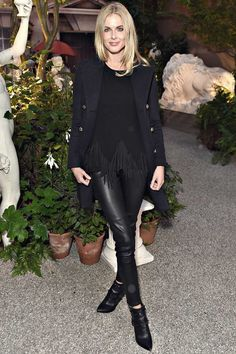 Donna Air attends the Burberry show