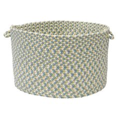 Braided indoor/outdoor basket with two Easy-Grip handles.   Product: BasketConstruction Material: 100% Polypropylene $34.95