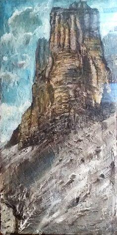 marcomorettiart: Tre cime di Lavaredo - Tecnica mista su tela 50x10...