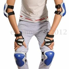 Cycling skating #skateboard scooter knee #elbow wrist set #guard pads protectors,  View more on the LINK: 	http://www.zeppy.io/product/gb/2/371689310791/