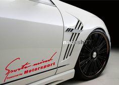 Sports mind Powered by Motorsport car Vinyl Decal sticker emblem logo RED #natash777