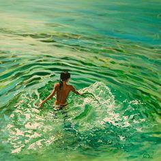 "Saatchi Art Artist: Antoine Renault; Acrylic 2012 Painting ""Rayon vert - SOLD"""