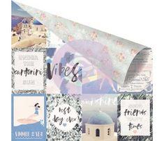 Disponível para compra na loja online Scrapbook e Tal Santorini - Sheet - Summer is Around The Corner Prima Marketing, Santorini, Online Scrapbook, Word Design, Around The Corner, Travel Themes, Soft Colors, Pattern Paper, Summer Days