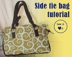 Free Bag Pattern and Tutorial - Side Tie Bag