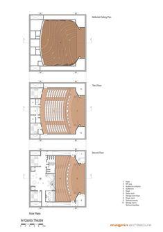 Masrah Al Qasba Theater,Floors Plans