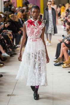 A look from Miu Miu's Spring 2018 collection. Photo: Imaxtree