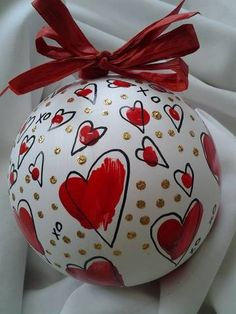 Custom hand painted ornaments for wedding holiday by emmersonart15, $14.50
