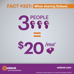 Solavei Fact #327: When sharing Solavei, enrolling three of your friends and family will earn you $20 every month!