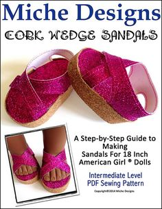 Cork Wedge sandals - Not free, but for $3.99 would be a fun pattern to have.