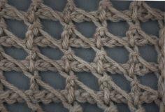 My Tunisian Crochet: Tunisian Chain Lace