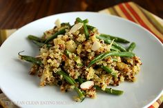 Roasted French Bean and Quinoa Salad by thecleancleaneatingmachine #Salad #Quinoa #French_Bean #Healthy
