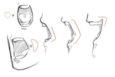 Drawing reference male mouth 70 Ideas for 2019 - - . Open Mouth Drawing, Side Face Drawing, Side View Drawing, Guy Drawing, Manga Drawing, Drawing People, Drawing Tips, Drawing Faces, Profile Drawing