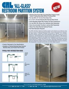 CRL All glass partition