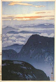 Eboshidake  by Hiroshi Yoshida, 1926.  my favorite japanese print artist (shin hanga)